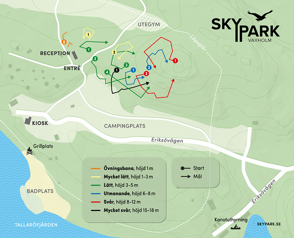 Skypark Vaxholm bankarta
